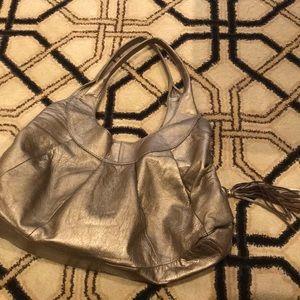 Sigrid Olsen Hobo purse gold/bronze 3 compartment